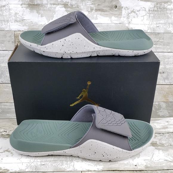 f9ac8f815d2 Nike Shoes | Jordan Hydro 7 Mens Slide Sandals Grayclay Green | Poshmark